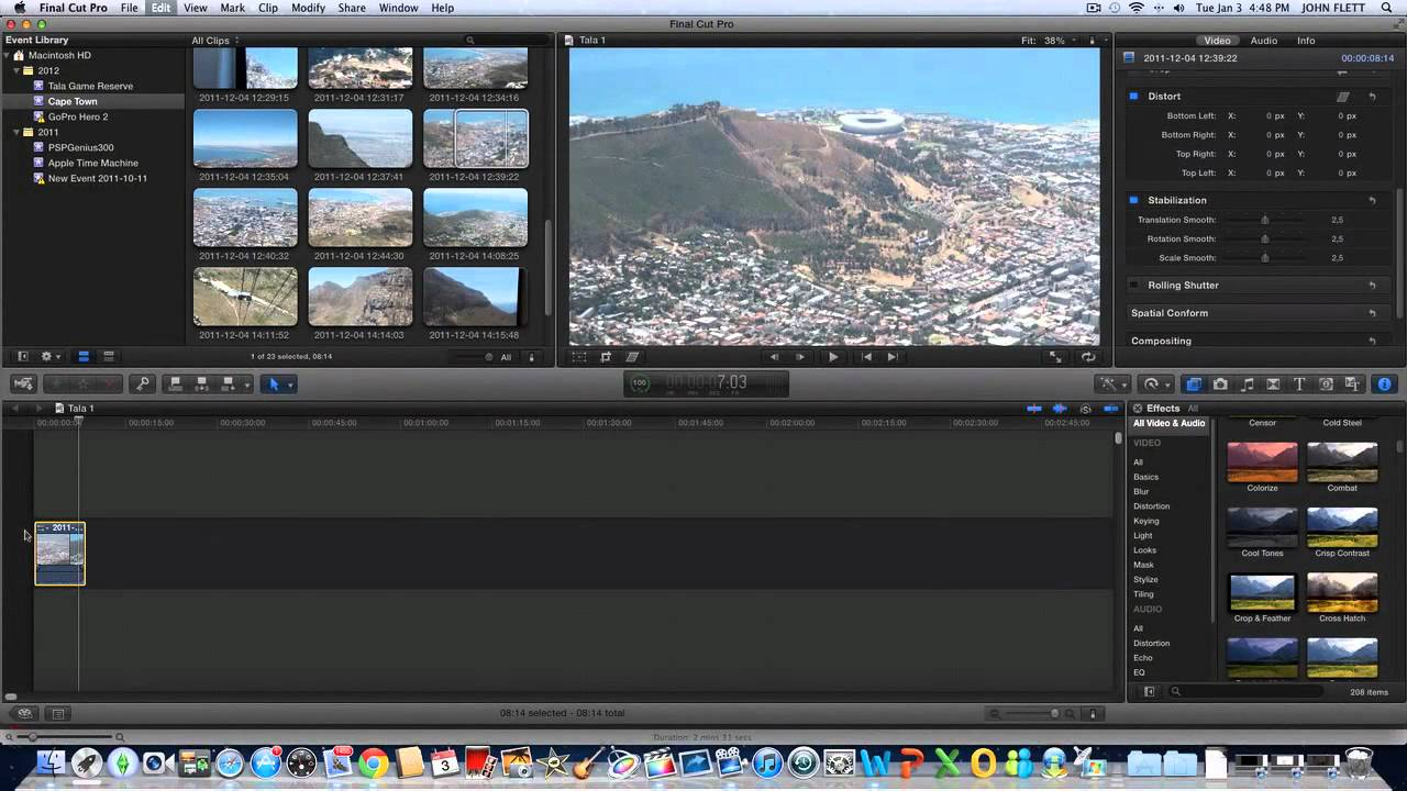 How to Stabilize videos in Final Cut Pro X