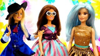 Одевалки: Барби и подружки на шоппинге. Новые платья для кукол. Мультики для девочек