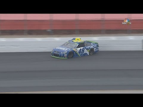 Monster Energy NASCAR Cup Series 2017. FP1 New Hampshire Motor Speedway (2). Jimmie Johnson Crash