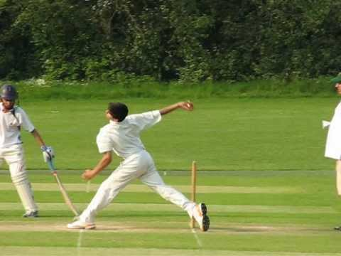 Fast Bowling Action - Side View  25.5.12