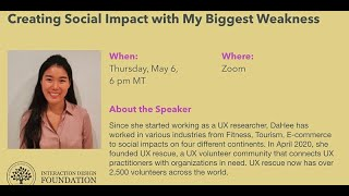 UXRescue - Creating Social Impact with My Biggest Weakness