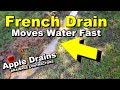 French Drain Removes Standing Water