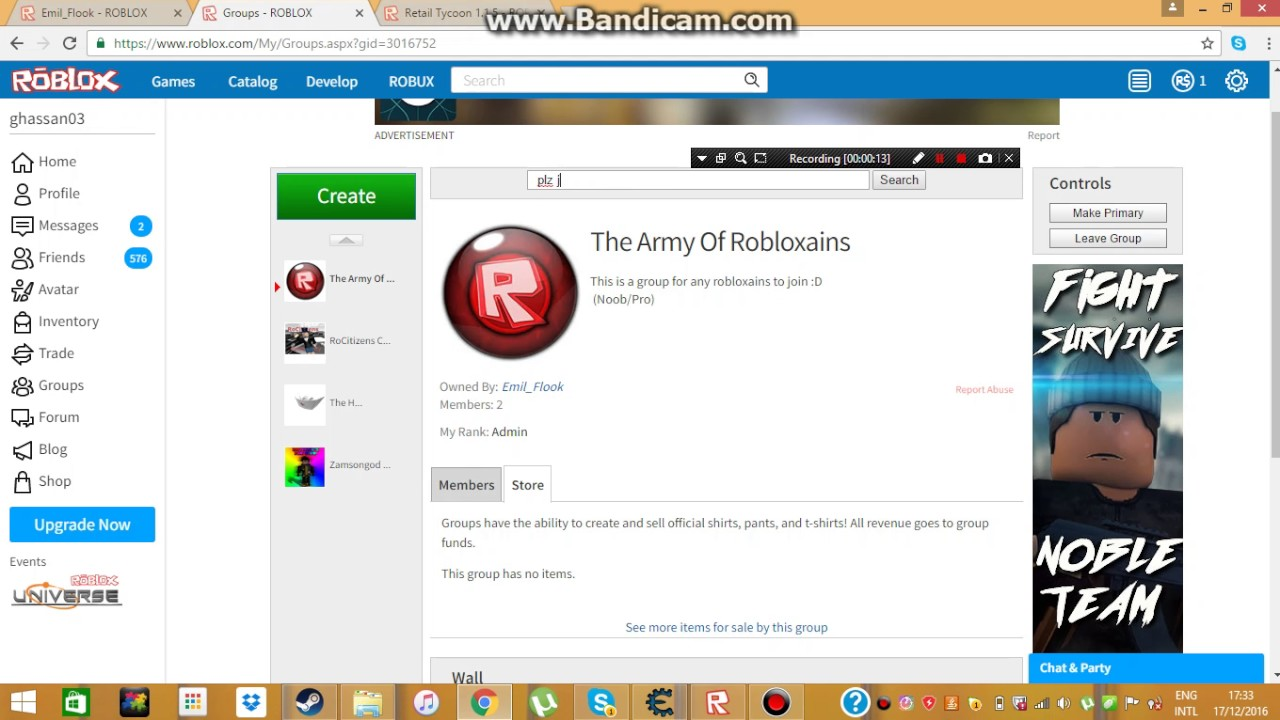 free roblox groups with funds
