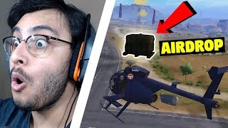 CATCHING AN AIRDROP WITH HELICOPTER ? | PUBG MOBILE HIGHLIGHTS | RAWKNEE