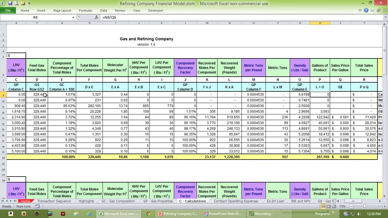 Refining Company Cash Flow Model - YouTube