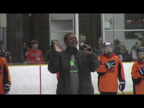 Twana Ellis National Anthem at Black Bears hockey game 2019.01.12
