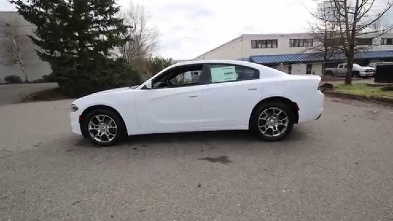 2015 dodge charger se awd bright white fh762855 redmond seattle - White Dodge Charger