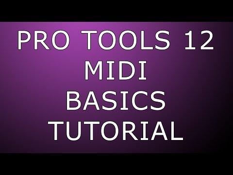 Pro Tools 12 MIDI Basics Recording & Editing (1080p quality)