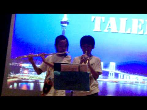 Macau Anglican College  talent show :) trumpet and flute:)!!!!!!!!!!!!!!!!!!!!