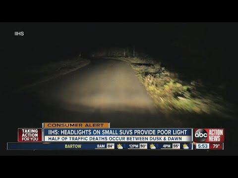 IIHS: Headlights On Small SUVs Provide Poor Light