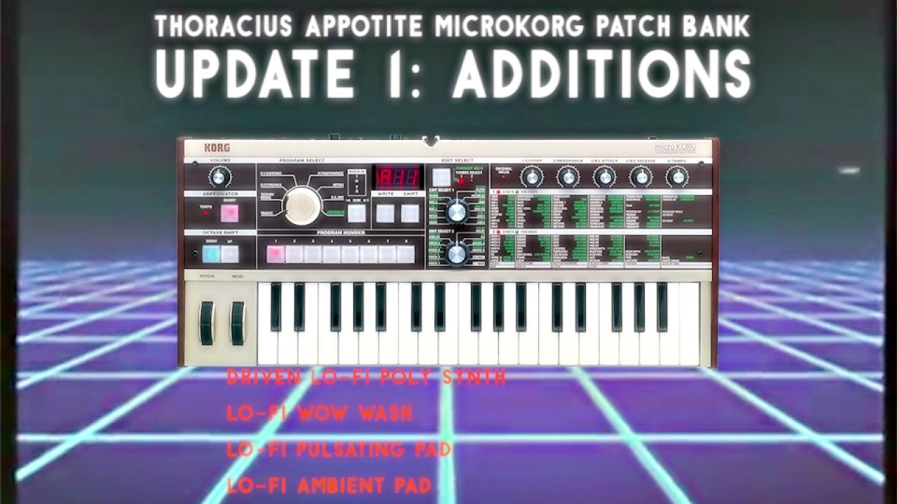 Original MicroKORG Patches: Classic Retro Synths, Vintage Sounds