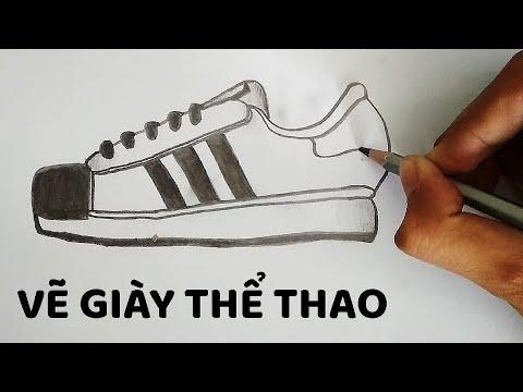 Vẽ Giày Thể Thao bằng bút chì cực đẹp – How to draw Shoes
