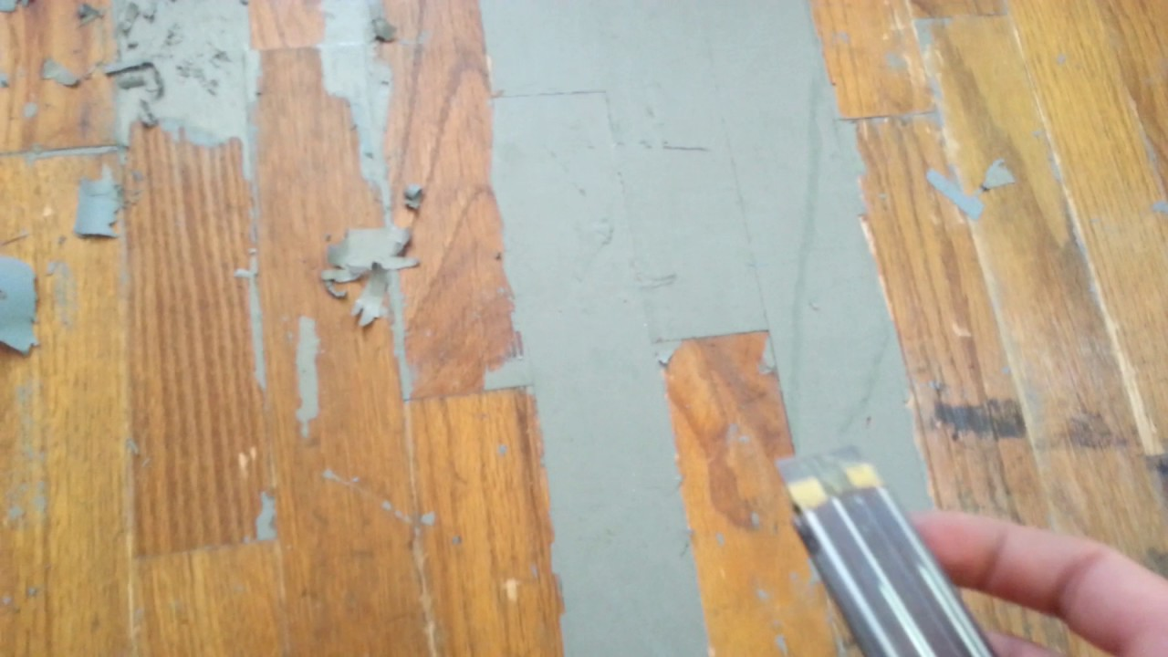 latex / floor paint) off wood floors
