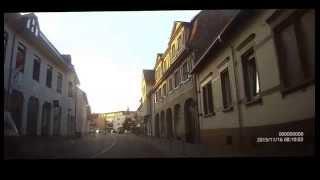 2015 11 16 -03- vom Walldorfer Tierpark aus  einmal durch Walldorf fahren