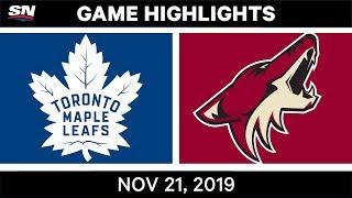 NHL Highlights   Maple Leafs vs Coyotes – Nov. 21, 2019