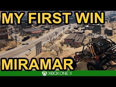 MY FIRST MIRAMAR WIN / 10 KILLS / PUBG Xbox One X