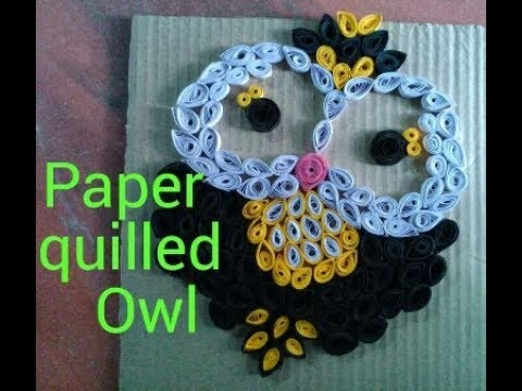 Paper Quilling Art-How To Make Paper Quilled Owl.DIY paper Owl.