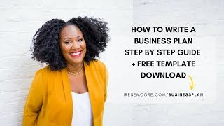 How To Write a Business Plan Step by Step + Template