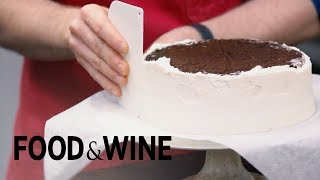 Icing Your Cake Upside Down For a Professional Look | Mad Genius Tips | Food & Wine