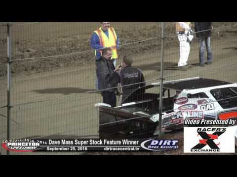 Princeton Speedway 9/25/16 Dave Mass Victory Lane