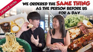 We Ordered The Same Thing As The Person Before Us For A Day   Eatbook Vlogs   EP 80