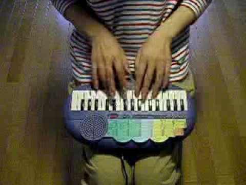 Canon Rock on toy keyboard