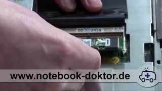 Arbeitsspeicher Tausch / RAM Speicher wechseln - unter Tastatur (Notebook / Laptop)