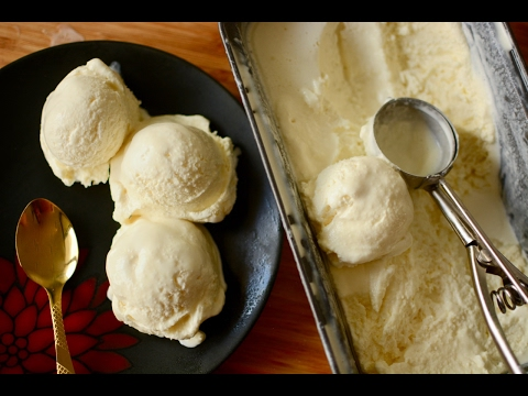 Homemade Vanilla Ice Cream Recipe (Only 3 Ingredients) | No Eggs | No Ice Cream Machine
