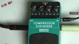Behringer Compressor Sustainer CS400 Test Review Wojtek Pietraszek