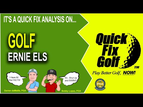 Golf Swing Analysis Online Ernie Els PGA