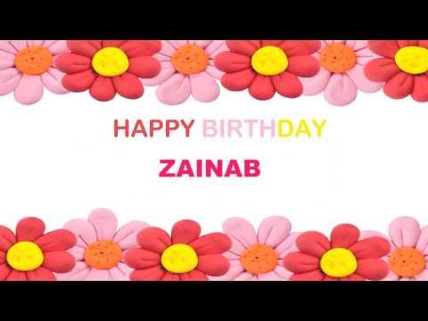 Zainab   Birthday Postcards & Postales - Happy Birthday