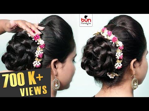 2 Beautiful Bridal Bun Hairstyles | Wedding Hairstyles | Bridal Hairstyle | Bun Hairstyles | Style