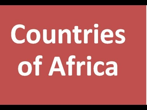 Countries of Africa, Names and numbers