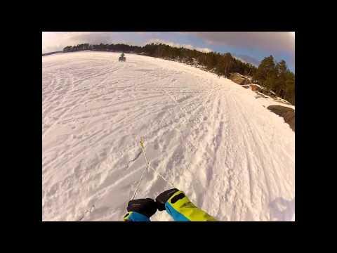 Snowboarding on ice at Helsinki