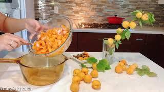 Homemade apricot jam. Cách làm mứt mơ tại nhà. 100% organic không chất bảo quản.