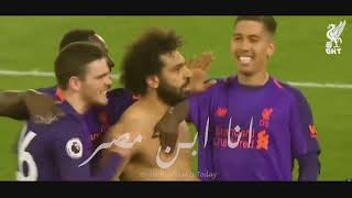 شاهد    مهارات واهداف محمد صلاح علي اغنية انا ابن مصر 2019