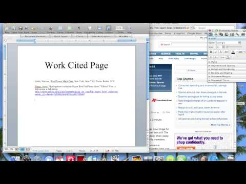 How To Make a Work Cited Page - YouTube