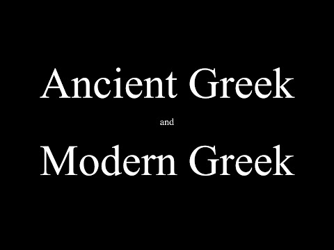 Modern Greek vs Ancient Greek