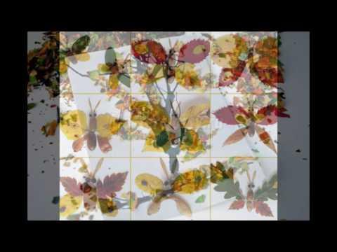 Поделки из листьев фото из кленовых листьев своими руками