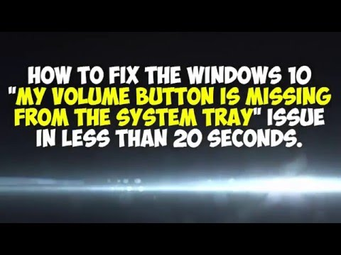 Windows 10 Volume Button Fix in less than 20 seconds