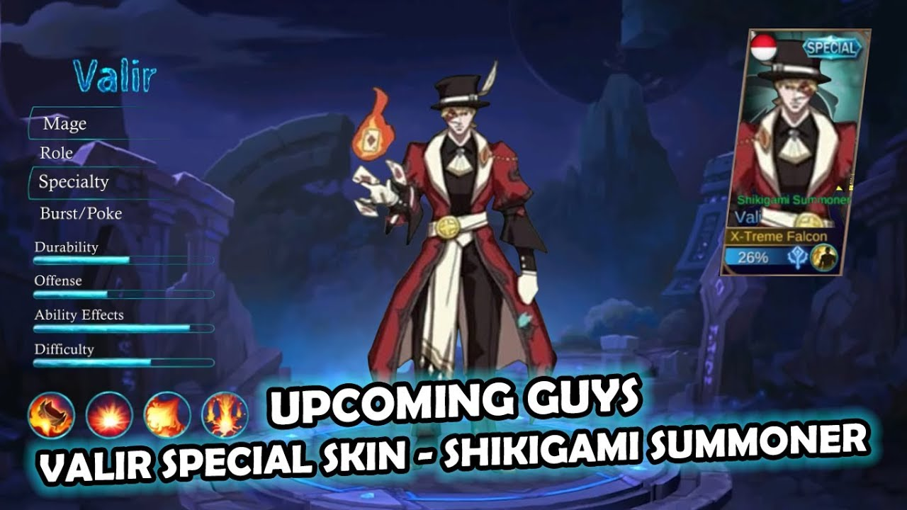 Up Ing Valir Special Skin Shikigami Summoner
