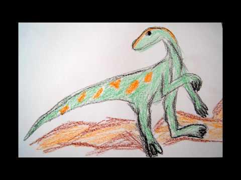 Dinosaurier zeichnen Tiere malen lernen - to draw a Dino