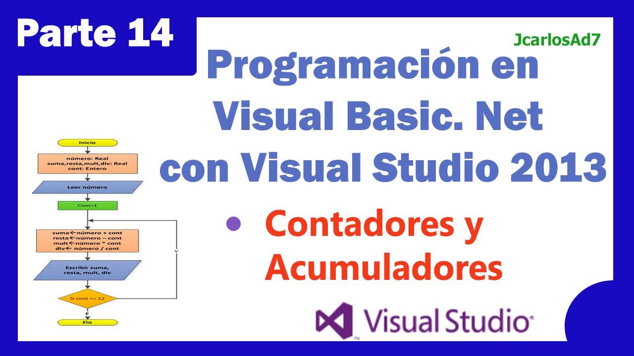 Contadores Y Acumuladores 14 25 Programacion Visual