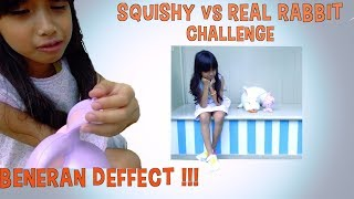 SQUISHY vs REAL RABBIT CHALLENGE - Beneran DEFFECT !!