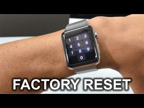 How to factory reset apple watch without iphone or password
