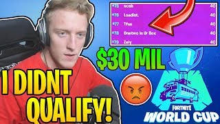 Tfue UPSET & FURIOUS After NOT Qualifying For The World Cup Finals!