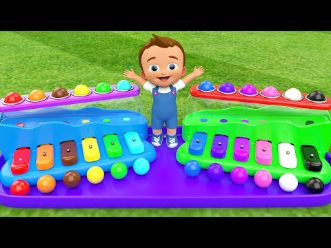 Little Baby Fun Learning Colors For Children Play Xylophone Hammer Balls ToySet 3D Kids Educational