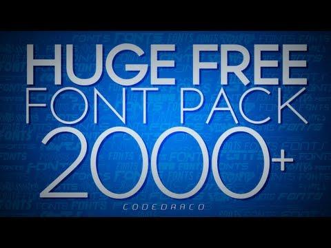 HUGE FREE FONT Pack - Over 2000+ Fonts!   9K