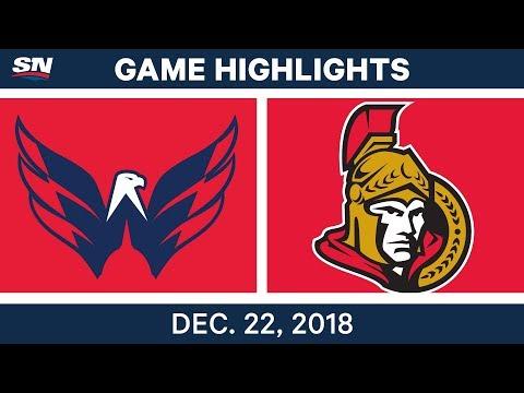 NHL Highlights | Capitals vs. Senators - Dec 22, 2018