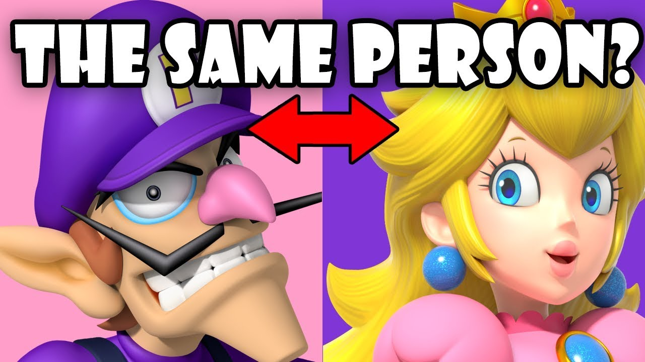 is waluigi and peach the same person youtube